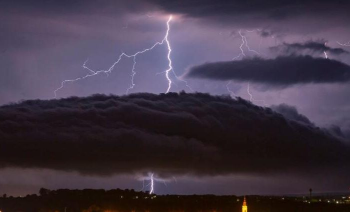 If you see straight lightning, you might be the first person to observe dark matter?