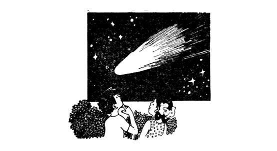 Why the comet looks big